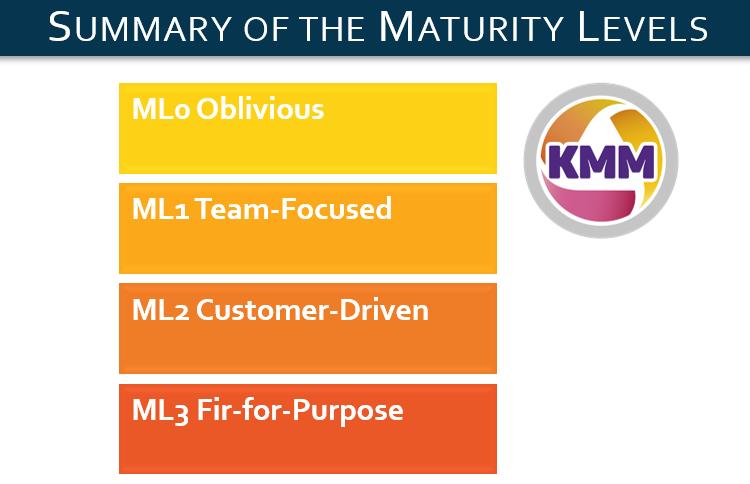 Image summary of the maturity Levels.